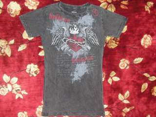 Black Believe Shirt Size Large L Authentic Criss Angel Heart