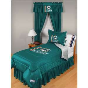 Miami Dolphins NFL Locker Room Collection Complete Bedding Set