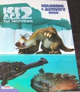 ICE AGE 3 PIECES ITEMS COLORING & ACTIVITY BOOKS WATCH MOVIE CARTOON