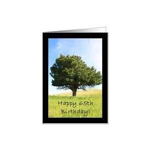 Happy 65th Birthday Tree Card: Toys & Games