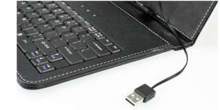 Leather Case Cover Stand w/USB Keyboard for Acer A500