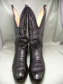 Nocona Black Leather 11.5 B Mens Western Boots