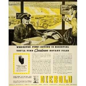 1942 Ad Diebold Safe & Lock Canton War Bonds Cardineer