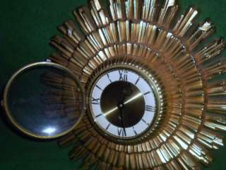 EAMES ERA WELBY SUNBURST WALL CLOCK 8 DAY GERMANY |