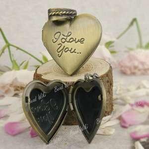 Antique Brass Heart Love Pendant Photo Locket MB488 4