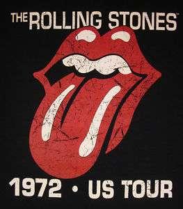 Rolling Stones 72 US Tour Vintage Logo T shirt New SzM
