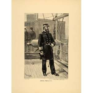 1894 Print Admiral David Porter Union U.S. Civil War