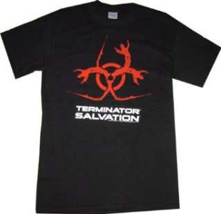 Terminator Salvation Bio Hazard Black T Shirt Clothing