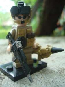 CUSTOM LEGO MINIFIG US ARMY NIGHT OPS RARE SCOUT ROCKET
