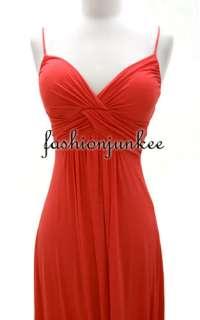 SPAGHETTI Strap MAXI Dress Long Full Length Jersey Summer Padded New S