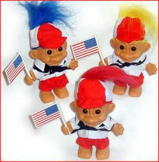 Russ PATRIOTIC TROLLS LOT American Flags USA Shorts Cap NEW old