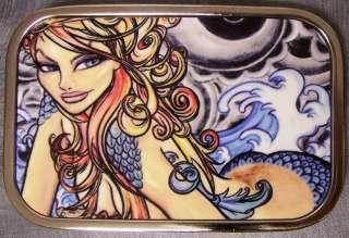 Metal TATTOO belt buckle Sexy Ink Girl Earth Wind Water