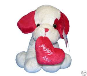 VALENTINES DAY GIFT Cute Puppy Love Heart 15.5 Plush Stuffed