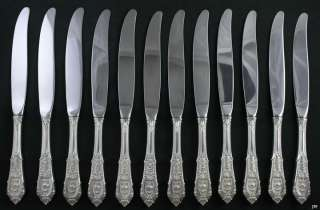 12 WALLACE ROSE POINT PATTERN STERLING SILVER KNIVES