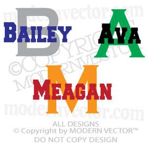 Personalized Girls / Boys Name Vinyl Lettering Wall Art