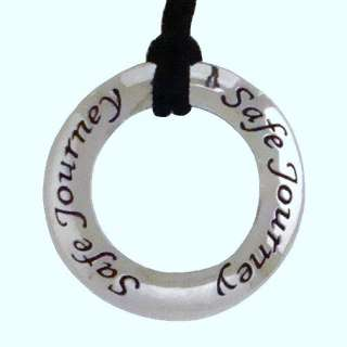 Safe Journey Affirmation Pendant Inspirational Jewelry