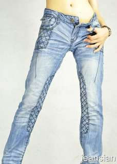 VVW Italian Designer Womens Jeans Denim Pants Low Rise Sexy W27 W 30
