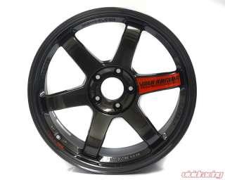 Volk Racing TE37SL Diamond Black Wheel Set 18x9.5 Mitsubishi EVO X 08