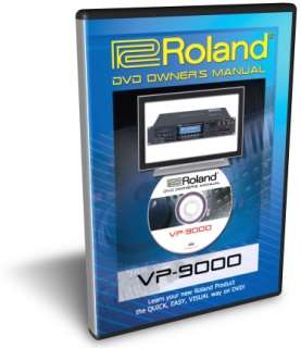 Roland VP 9000 DVD Training Tutorial Manual Help