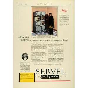 1925 Ad Servel Antique Electric Refrigerator Model A2 Cabinets Kitchen