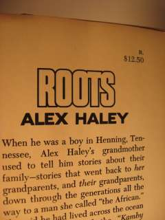 1976 ALEX HALEYS ROOTS SIGNED BY HALEY   IN DJ
