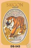 Saigon Tiger Viet Nam Jungle Luggage Tag Vintage Art