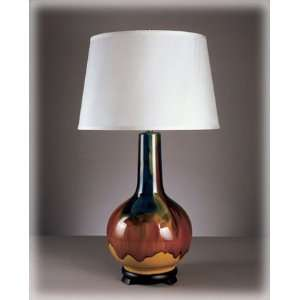 Dahlia Contemporary Multi Colored Table Lamps Set of Two
