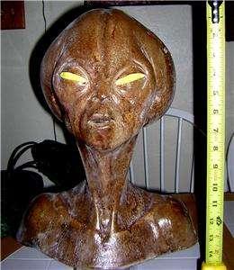 Alien King Bust Prop Area 51 life size alien body head,Roswell