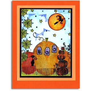 Penny Black Rubber Stamp 3707k HALLOWEEN MONTAGE
