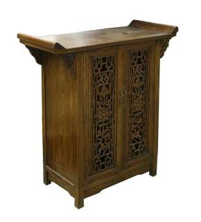 Open Carving Panel Doors Point Edge Foyer Pedestal Table s1564special