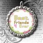 BEST FRIENDS BFF BOTTLE CAP NECKLACE 24 CHAIN #2