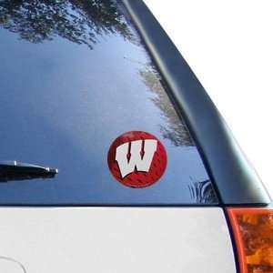 NCAA Wisconsin Badgers Round Vinyl Decal Automotive