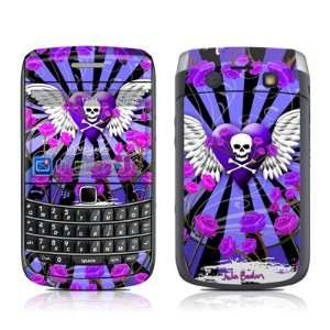 Skull & Roses Purple Design Protective Skin Decal Sticker