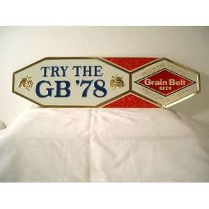 Vintage Embossed Grain Belt Beer GB 78 Sign Everything
