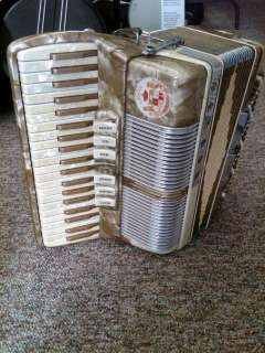 Vintage Accordion Made By Nobles Made In Italy Little Giant