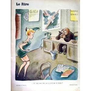 RIRE (THE LAUGH) FRENCH HUMOR MAGAZINE MAN OFFICE LADY: Home & Kitchen