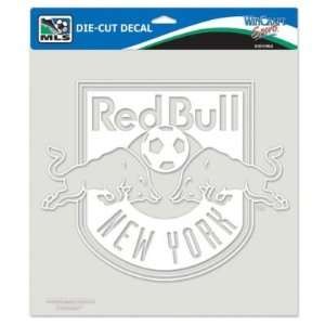 NEW YORK RED BULLS OFFICIAL LOGO 8x8 CLEAR DIE CUT DECAL
