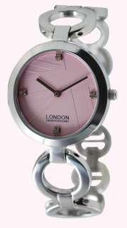 Ladies Pink Stainless Watch London Underground LU31003