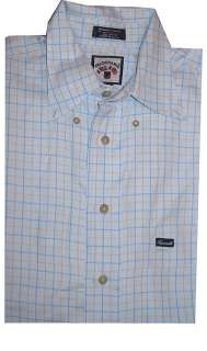 FACONNABLE MENS LONG SLEEVE DRESS SHIRT TOP LIGHT BLUE PLAID L