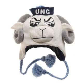 UNC North Carolina TarHeels Winter Ski Laplander Hat CAP NWT Mascot