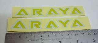 Nos Old School BMX Hub Decal Sticker for ARAYA Rim 7X C
