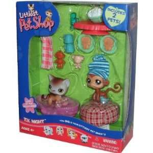 Littlest Pet Shop 2 Pack with Accessories TV Night with Monkey