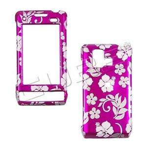 GLITTER PINK FLOWERS snap on hard case faceplate for LG Vx9700 Dare