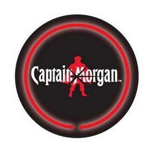 Newly Licensed Captain Morgan Logo Beer Bar Neon Clock: Home & Kitchen