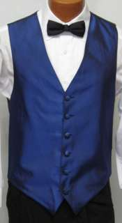 Mens Royal Blue Tuxedo Fullback Vest Prom Wedding M