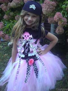 BOUTIQUE CUSTOM HALLOWEEN PIRATE PRINCESS PINK TUTU COSTUME