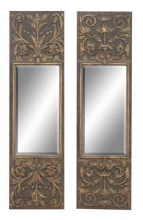 Tuscan Old World Antique Gold Scrolled Mirror S/2