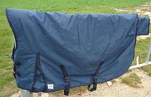 72 Winter Turnout Blanket Waterproof Rug Horse Navy Blue 600d High
