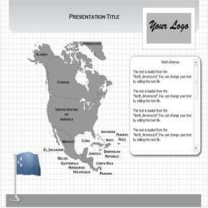North America Maps PowerPoint Template   Windows North America Maps