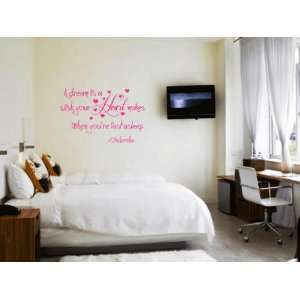 Heart Makes When YouÕre Fast Asleep Vinyl Wall Decal